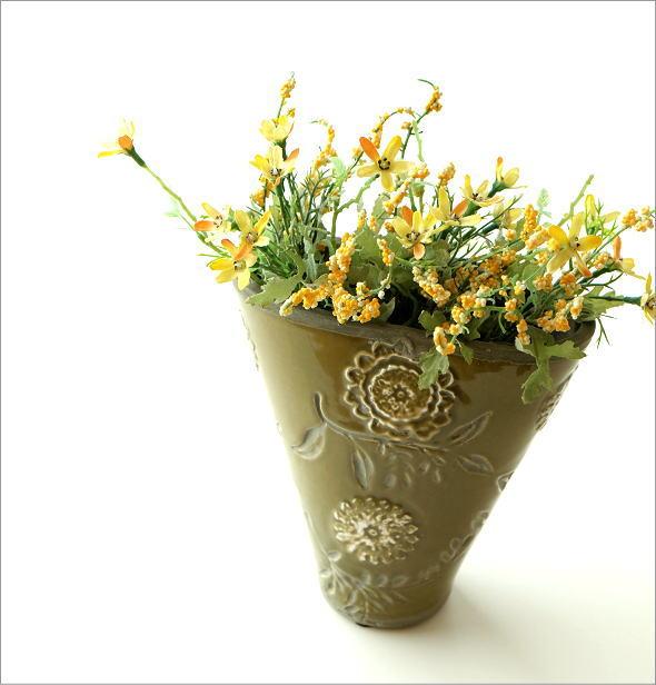 陶器のミニベース フローラ(1)