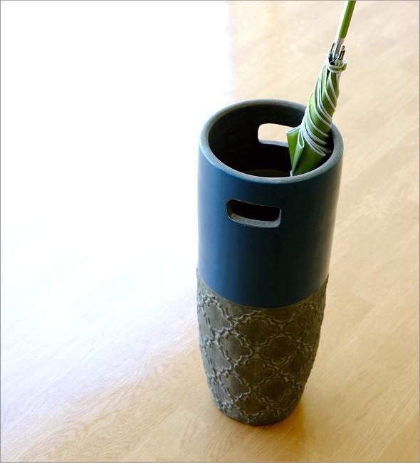 ハーフカラー陶器の傘たて【送料無料】(1)