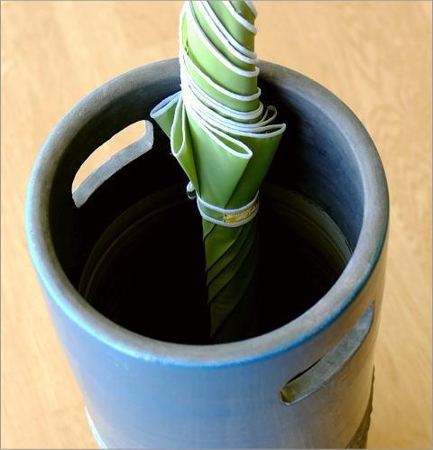ハーフカラー陶器の傘たて【送料無料】(2)
