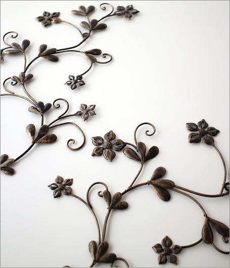 アイアン壁飾り スモールフラワー2セット