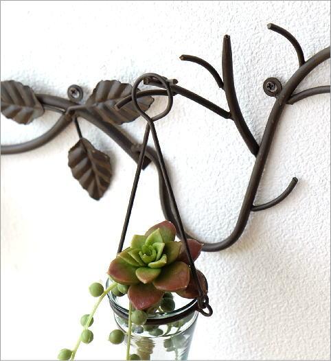 アイアン吊り下げガラスベース(4)