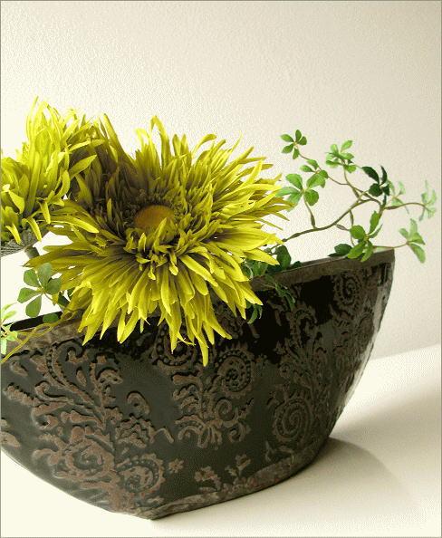 陶器の花瓶 クラシックベースB