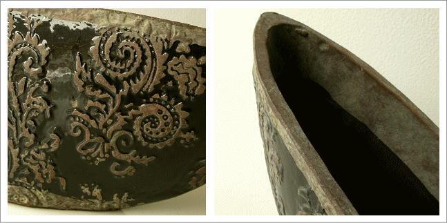 陶器の花瓶 クラシックベースB(2)