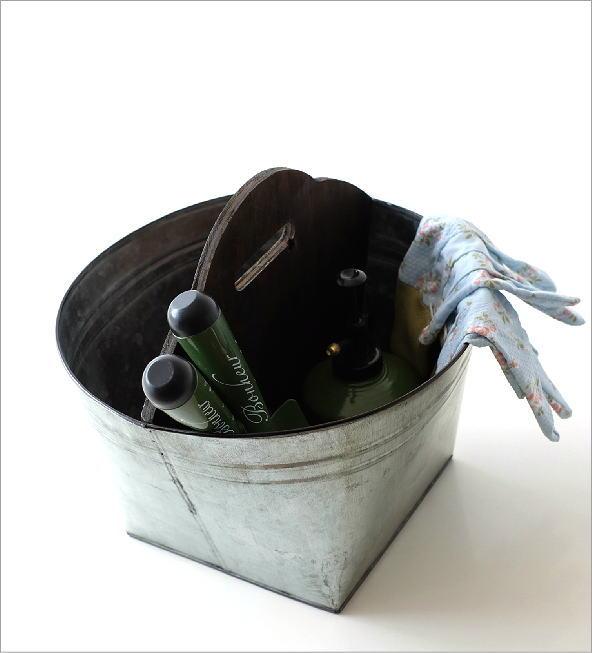 Tin バスケット ウッドバー(1)