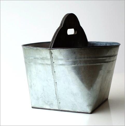 Tin バスケット ウッドバー(3)