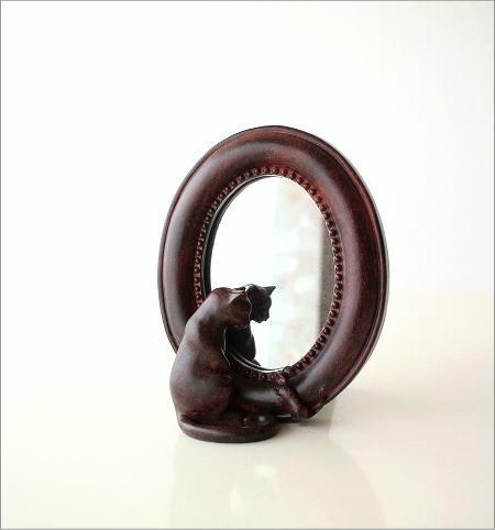 ネコとミニマウスのスタンドミラー(5)