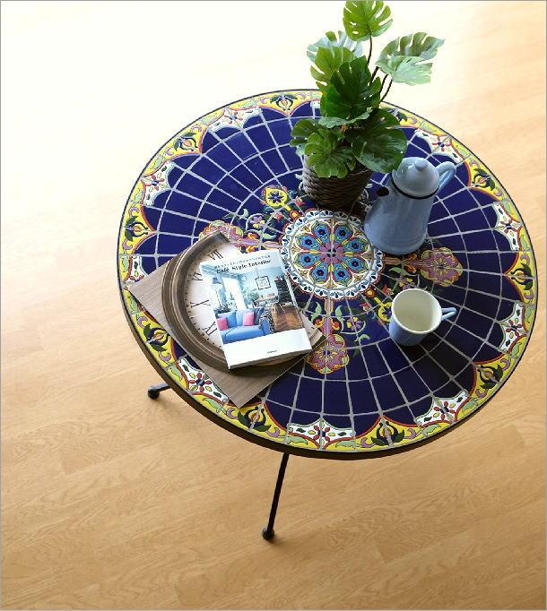 ガーデンテーブル モザイクブルー(1)