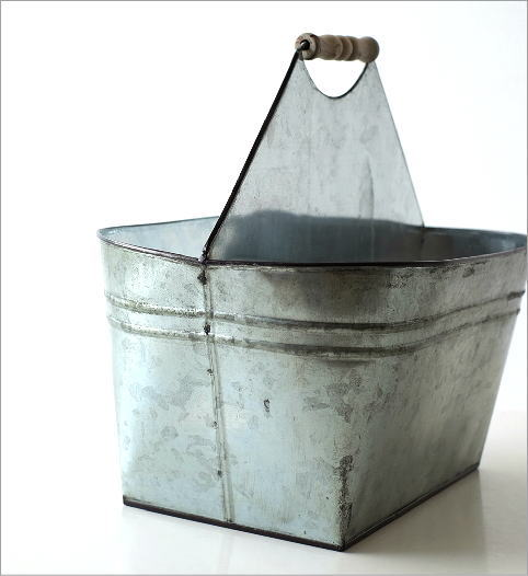 Tin バスケット ウッドハンドル(3)