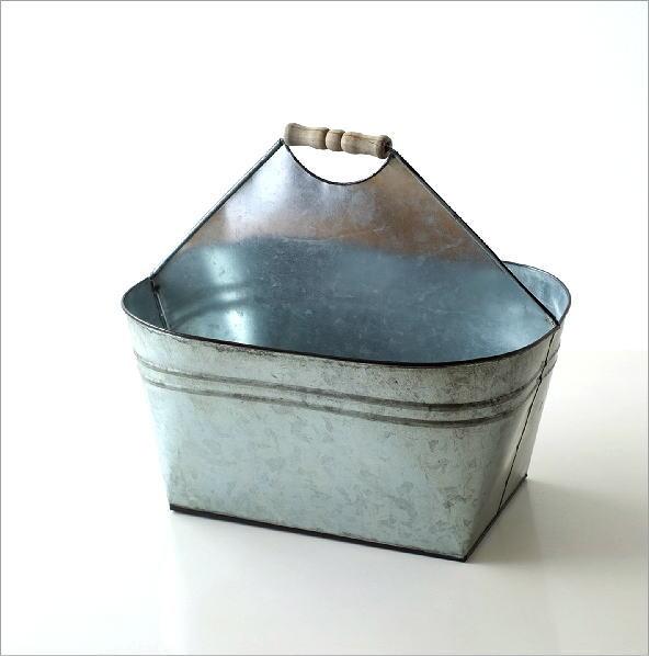 Tin バスケット ウッドハンドル(4)