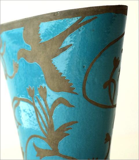 陶器のベース スモールブルー(2)