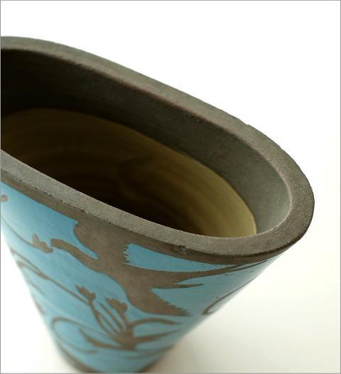 陶器のベース スモールブルー(3)