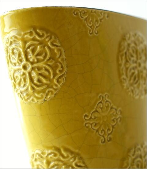 陶器のベース スモールイエロー(2)