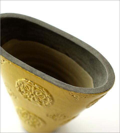 陶器のベース スモールイエロー(3)