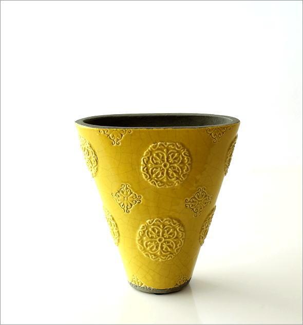 陶器のベース スモールイエロー(4)