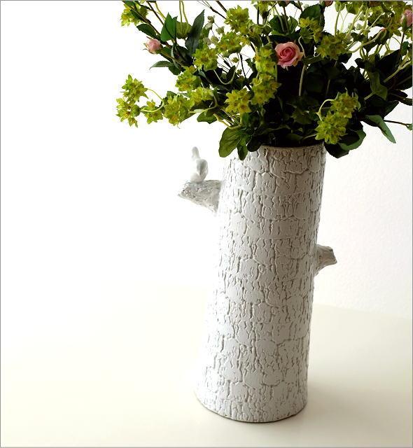 陶器のトールベース とまり木(1)
