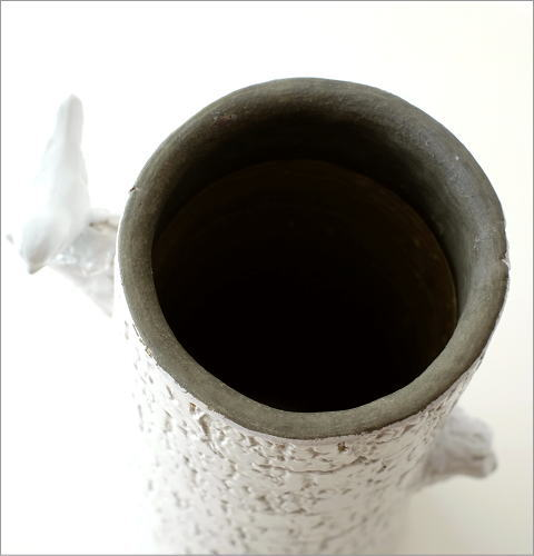 陶器のトールベース とまり木(3)