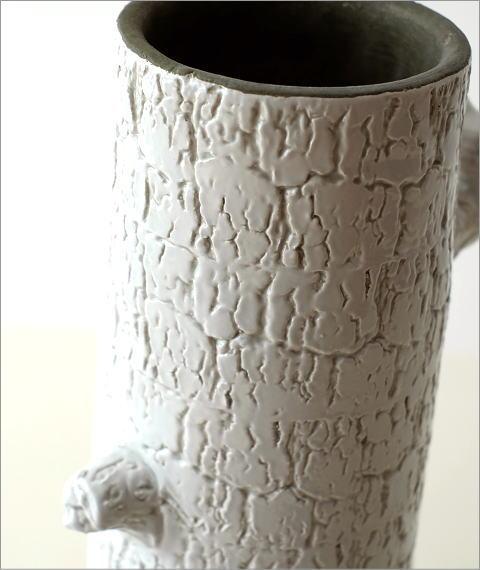 陶器のトールベース とまり木(4)