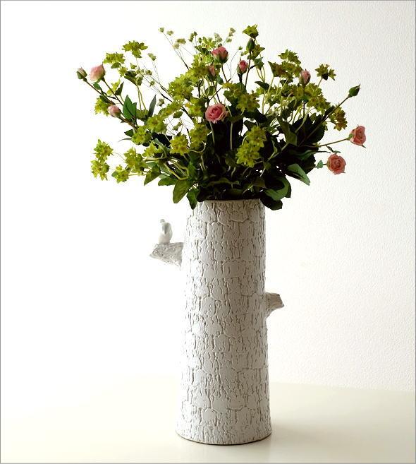 陶器のトールベース とまり木(5)