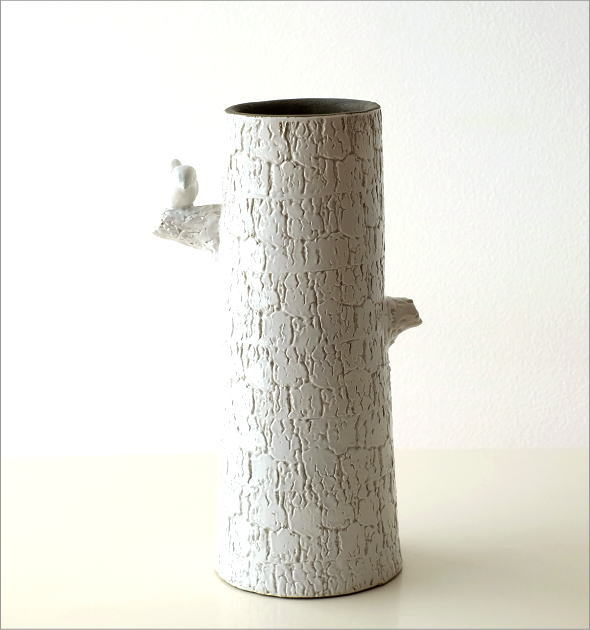 陶器のトールベース とまり木(6)