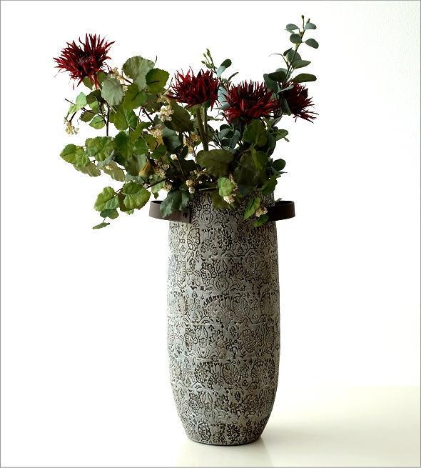 陶器のトールベース SARA(4)