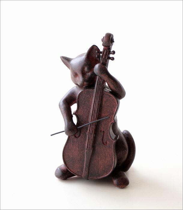 ネコのオブジェ チェロ(4)