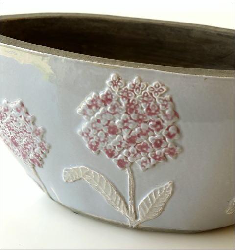 陶器のベース フローラルボートベース(2)