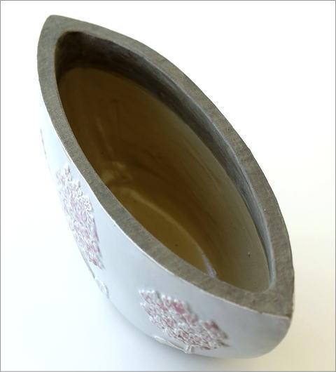 陶器のベース フローラルボートベース(3)