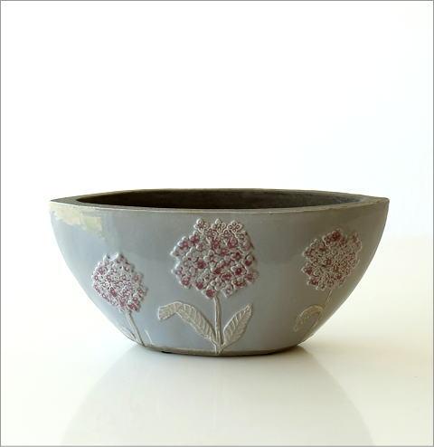 陶器のベース フローラルボートベース(4)