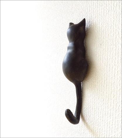 壁掛けフック ネコのテールフック
