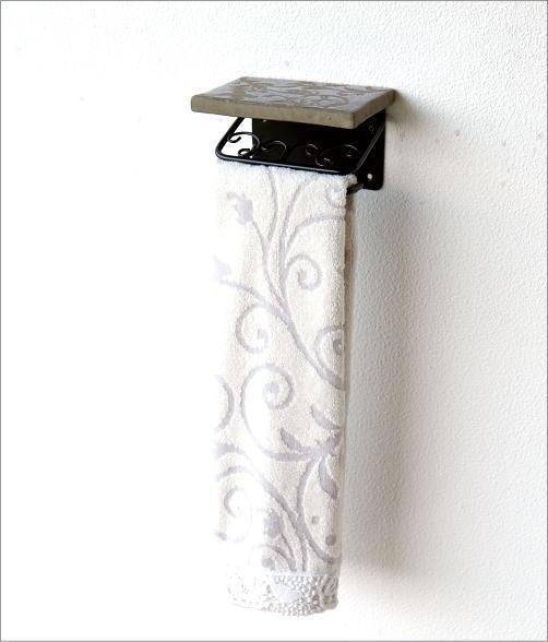 陶器の棚付きペーパーホルダーシングル 花鳥風月(4)