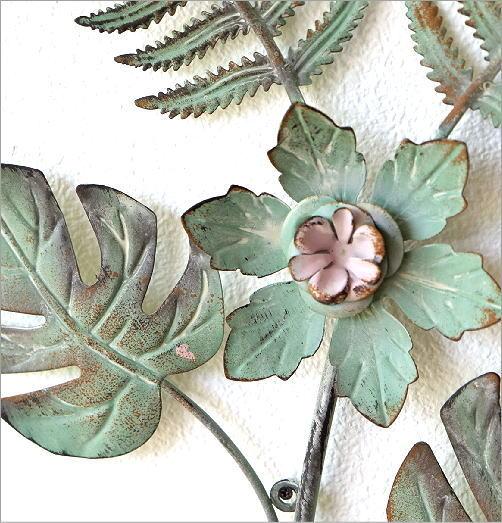 アイアンの壁飾り ファーン&フラワー(3)
