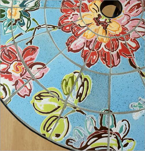 ガーデンテーブル モザイクフラワー(2)