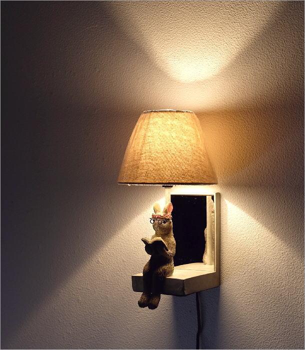 野うさぎ壁掛ランプ(1)