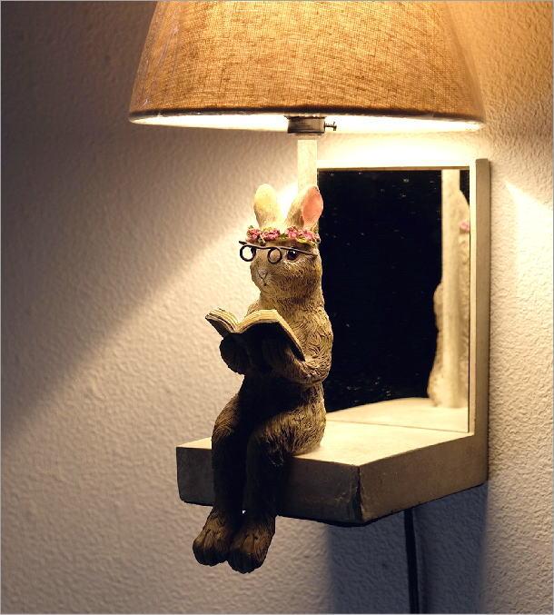 野うさぎ壁掛ランプ(2)