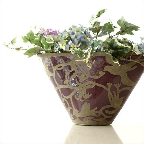 陶器のベース オーキッドバード(1)