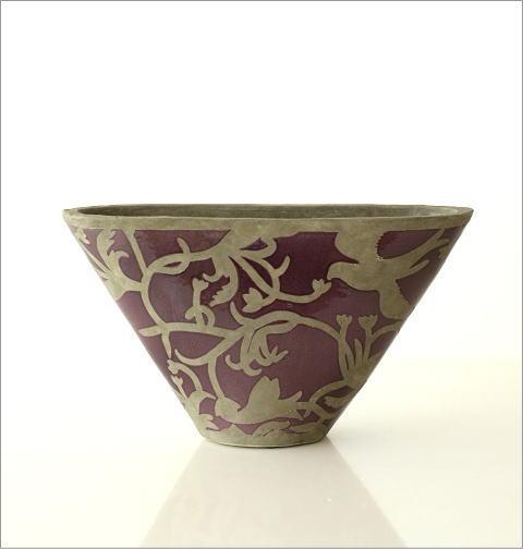 陶器のベース オーキッドバード(4)