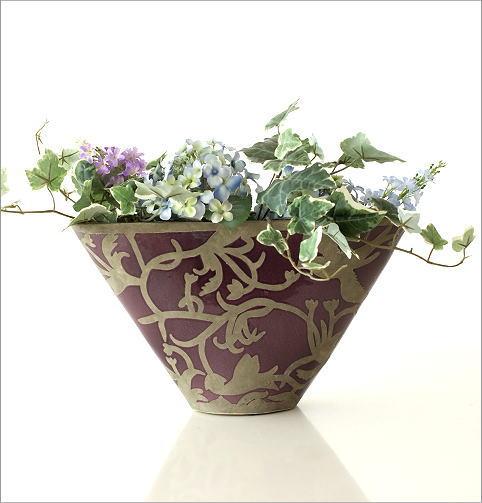 陶器のベース オーキッドバード(5)
