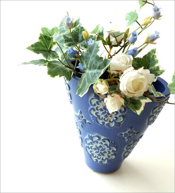陶器のミニベース ブルーメ(1)