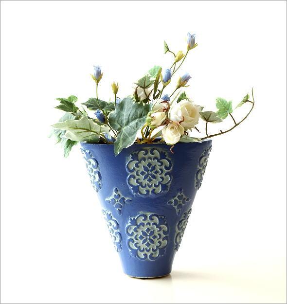 陶器のミニベース ブルーメ(4)