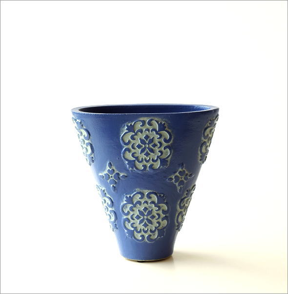 陶器のミニベース ブルーメ(5)