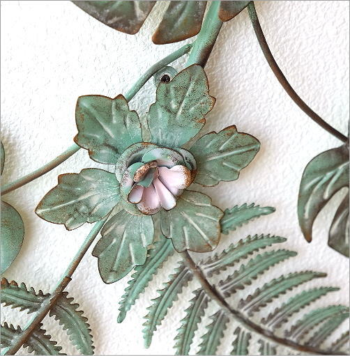 アイアンの壁飾り ファーン&フラワーロング(3)