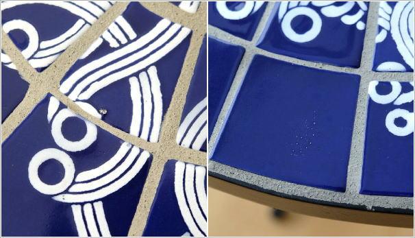 ガーデンモザイクテーブル ブルー&ホワイト(5)