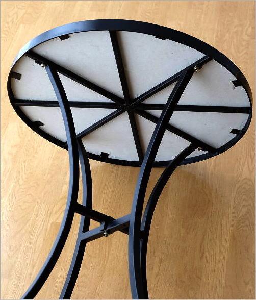 ガーデンモザイクテーブル ブルー&ホワイト(6)