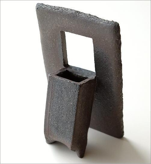 花器 一輪挿し おしゃれ 陶器のフレーム花入れ(3)