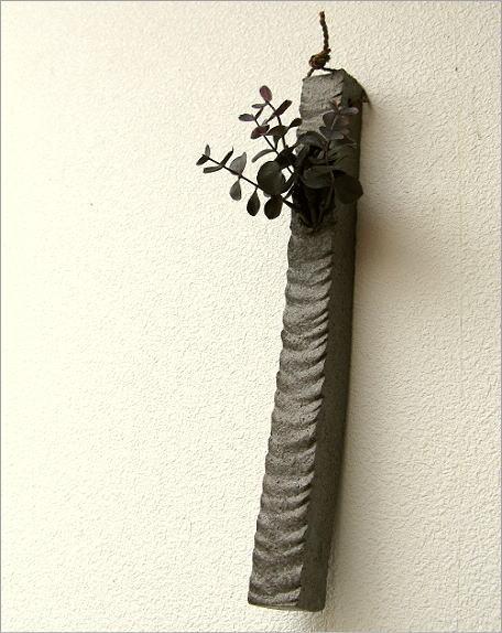 壁掛け花瓶 和陶器掛け花 四(3)