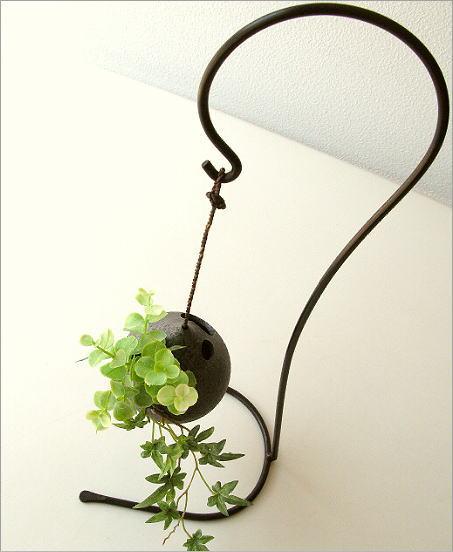 陶器 花瓶 吊り下げしずく型花入れ(1)