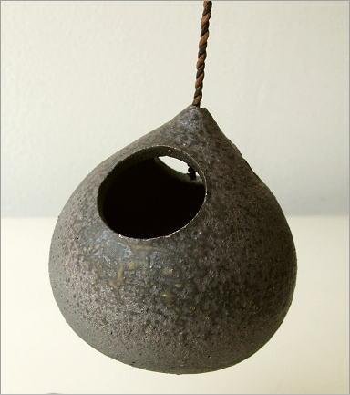 陶器 花瓶 吊り下げしずく型花入れ(2)