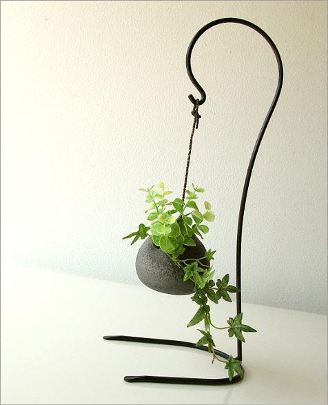 陶器 花瓶 吊り下げしずく型花入れ(5)