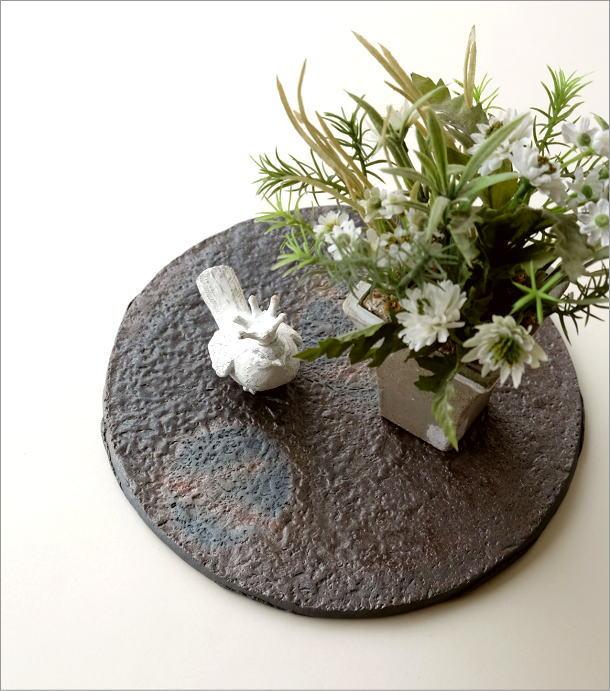 陶器の丸プレート(1)