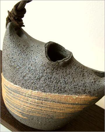 花器 陶器 花台付き蔓花入れ(2)